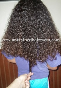 black girl long hair