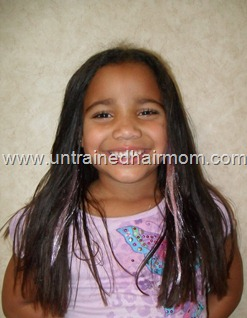 straightened and trimmed natural hair care
