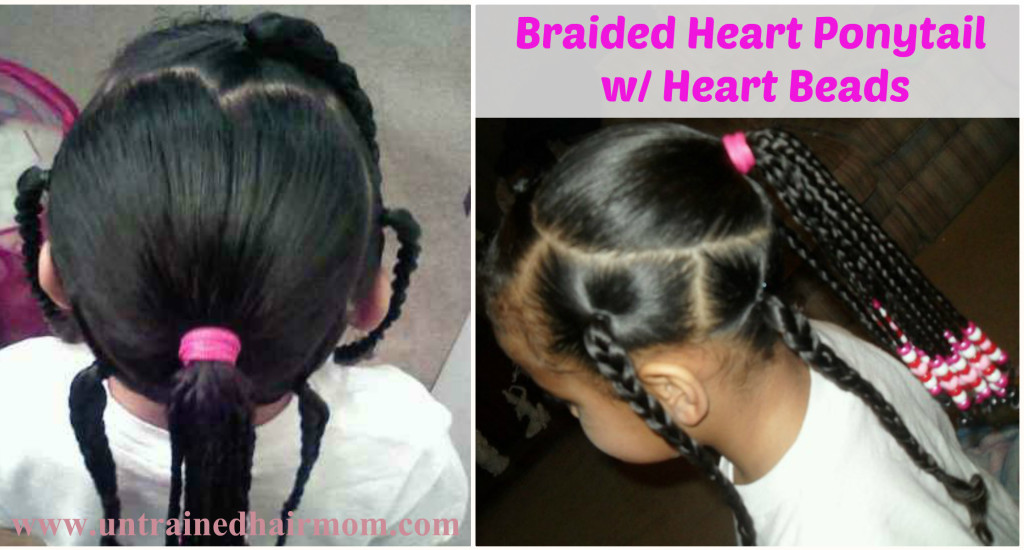 braid heart beads