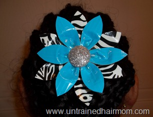 hair bow made from duck tape