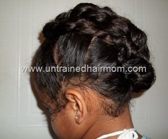 Updo Style for Natural Hair