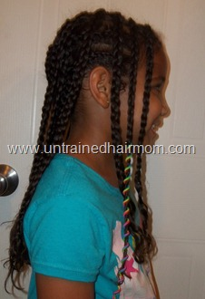 Cornrows with hair accessories