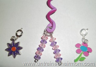 charms and cute hair accessories