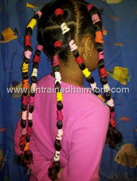 banding natural hair before straightening