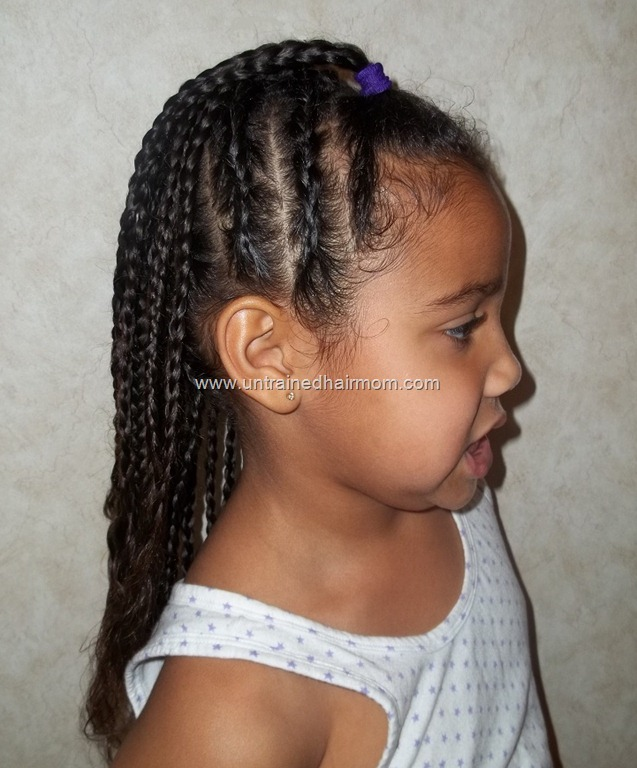 Cute easy cornrow style for kids urmus Image collections