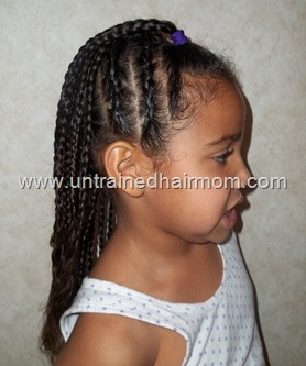 Cute, Easy Cornrow Style for Kids