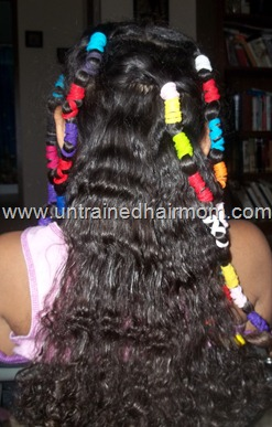 banded natural hair