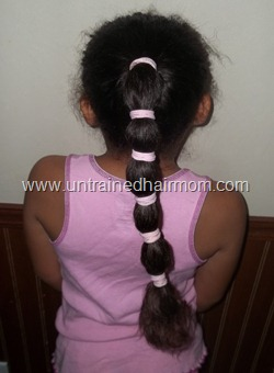 banded ponytail hairstyle