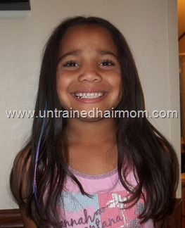 straight hair with feather extension