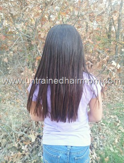 using flat ironed for natural hair  trim