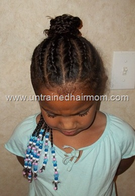 braided bun cornrow hairstyle