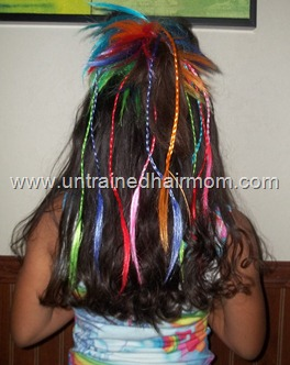 Lady Gaga Hairbow stylewith colored hair extensions