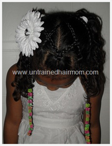 criss cross braids pigtail hair