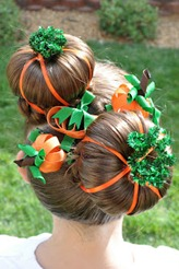 pumpkin hair