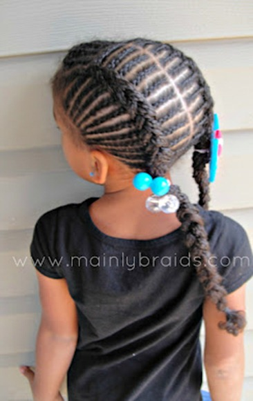 Braided cornrows