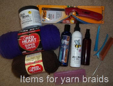 items for yarn braids