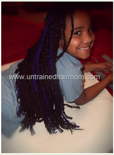 yarn braids on kids
