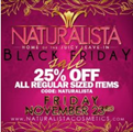naturalista black friday sale