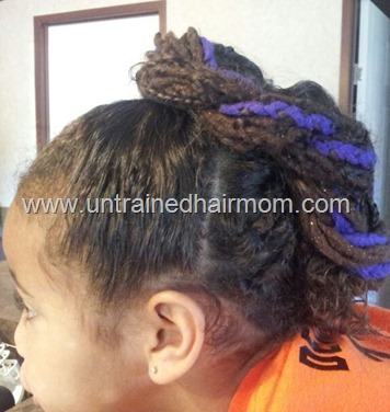 yarn braids updo