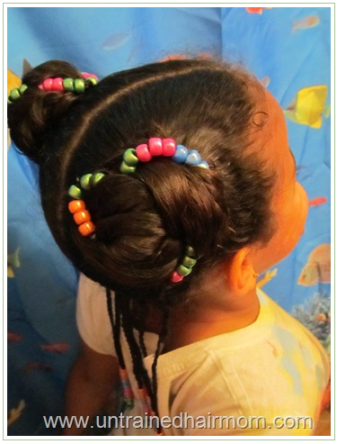 Cute Hairstyle with Beads