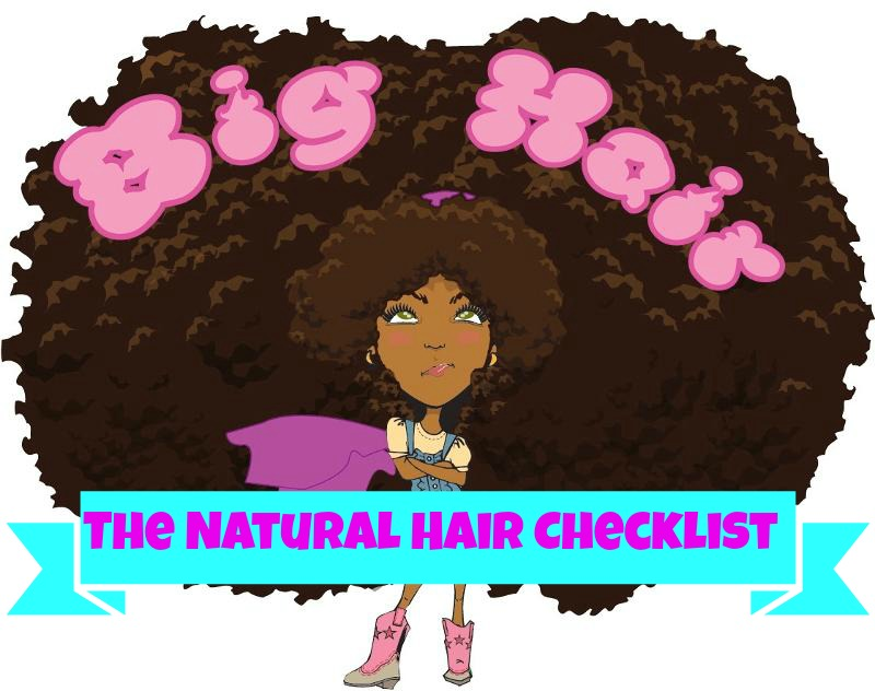 big hair natural checklist