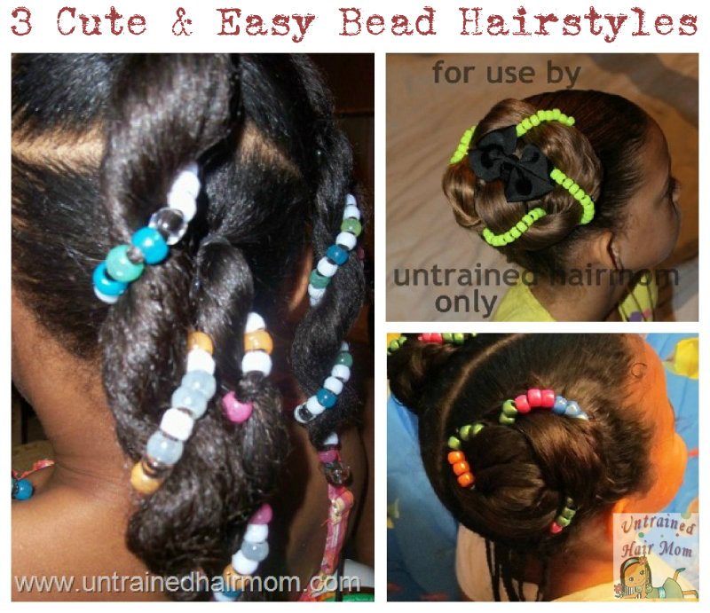 cute bead hairstyles
