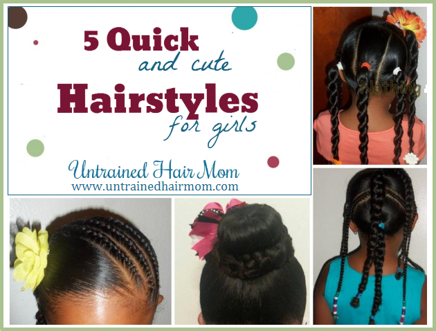 5 Quick Cute Hairstyles