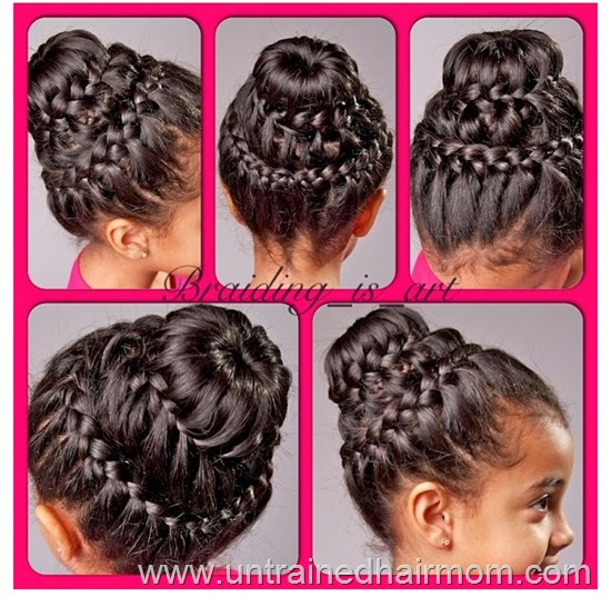 double crown braid bun tutorial