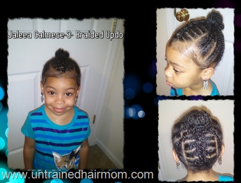 cornrow updo hairstyle