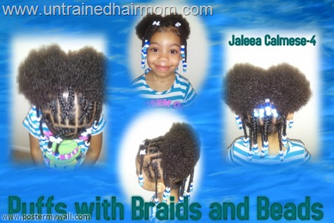 cornrows puffs beads hairstyle