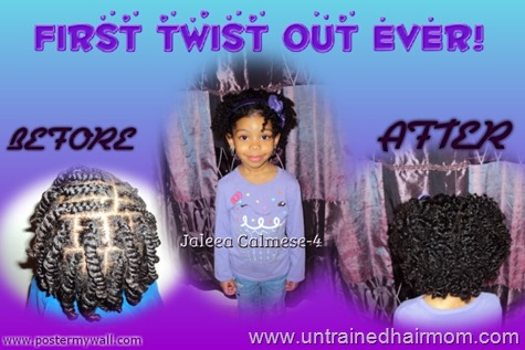 twist out hairstyle