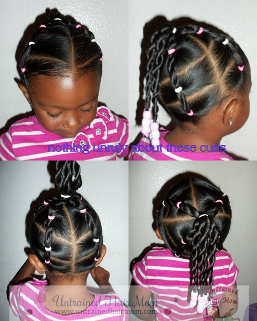 Girls easy twist hairstyle