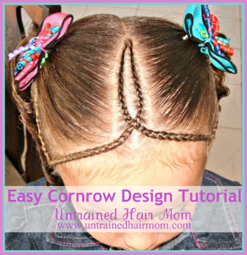 easy cornrow design hairstyle