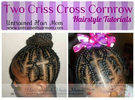 Criss Cross Over Cornrow Hairstyles