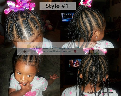 criss cross cornrow hairstyle