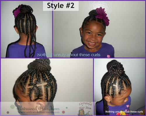 girls cornrow hairstyle