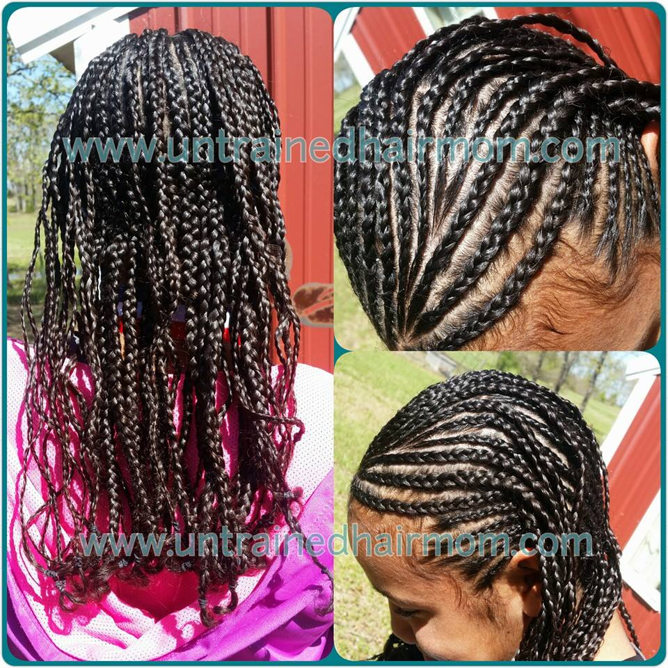 tween hairstyle cornrows